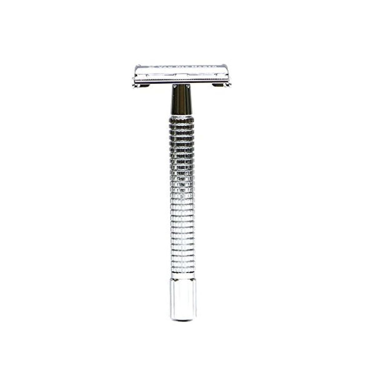 変形スローガンかまどVANDERHAGEN(米) トラディショナル 安全両刃カミソリ ロングタイプ バタフライタイプ 替刃5枚付