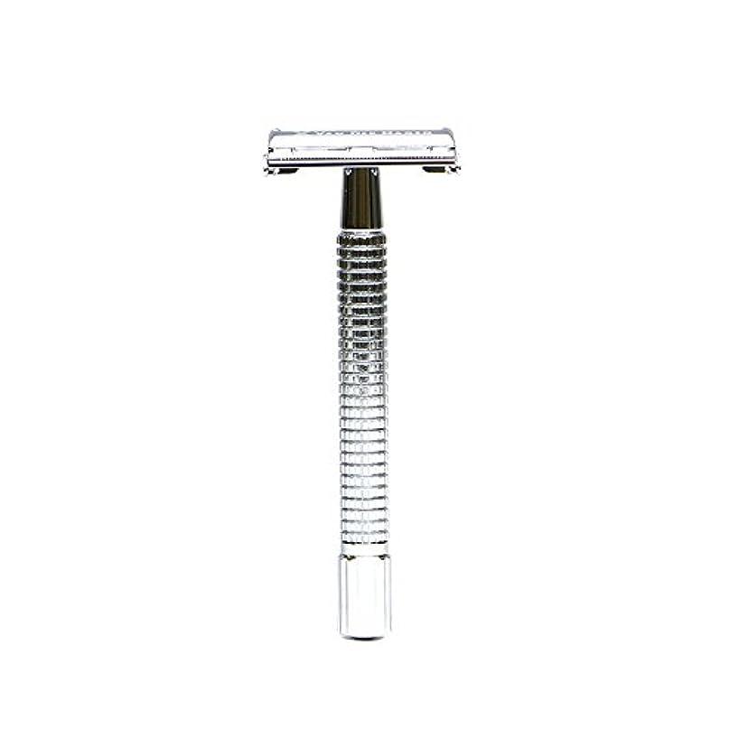 がっかりした溝テーブルを設定するVANDERHAGEN(米) トラディショナル 安全両刃カミソリ ロングタイプ バタフライタイプ 替刃5枚付