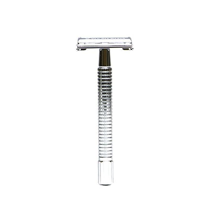 確率露骨なスローVANDERHAGEN(米) トラディショナル 安全両刃カミソリ ロングタイプ バタフライタイプ 替刃5枚付