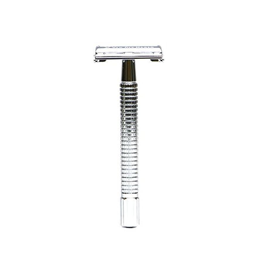 幅買収ドリルVANDERHAGEN(米) トラディショナル 安全両刃カミソリ ロングタイプ バタフライタイプ 替刃5枚付