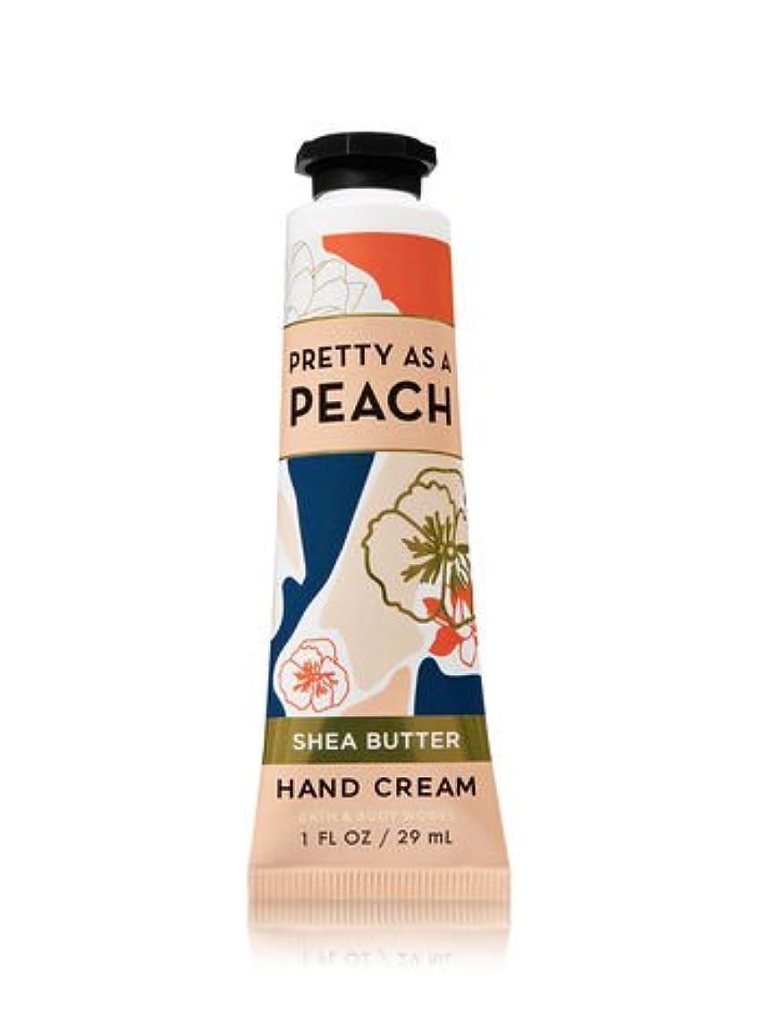 砂オセアニア色【Bath&Body Works/バス&ボディワークス】 シアバター ハンドクリーム プリティーアズアピーチ Shea Butter Hand Cream Pretty As A Peach 1 fl oz / 29 mL...