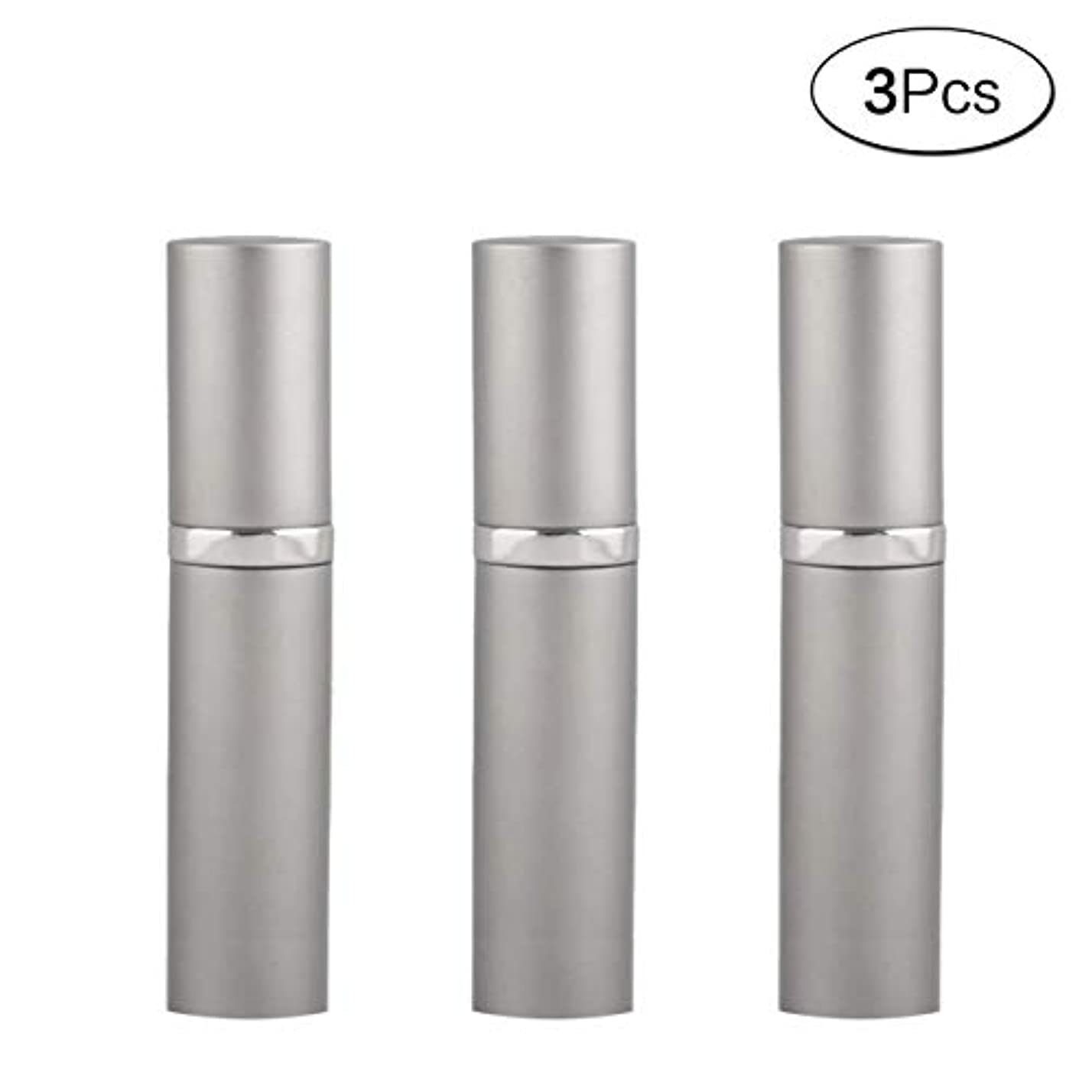 誘惑するモバイル時々時々5ML アトマイザ- 詰め替え ポータブル クイック 香水噴霧器 携帯用 詰め替え容器 香水用 ワンタッチ補充 (グレ-Gray) 3本