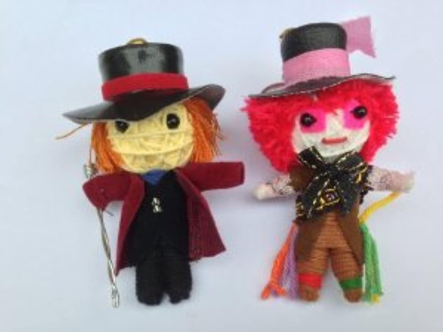String Doll World - String Doll Keychain - Willy Wonka & The Mad Hatter ドール 人形 フィギュア(並行輸入)