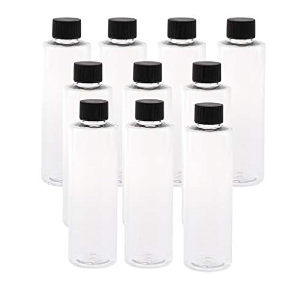 復活する居間返済全3色 200ミリリットル PETボトル 空のボトル プラスチックボトル 詰替え容器 - ブラックキャップ