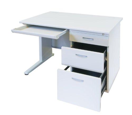 片袖机 事務用スチールデスク W1000*D700*H700mm オフィスデスク