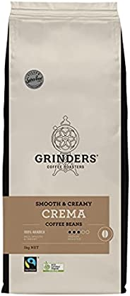 Grinders Coffee, Crema, Roasted Beans, 1kg