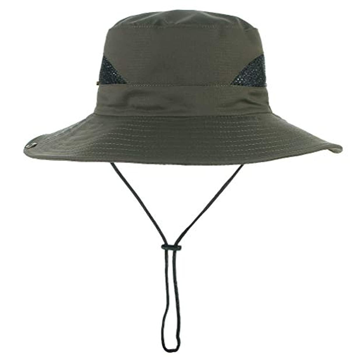 ひどく空気受け入れた[MARRYME] 帽子 アドベンチャーハット サファリハット フィッシャーマンハット メッシュ 通気 つば広 日よけ メンズ レディース アウトドア 釣り ハイキング 登山
