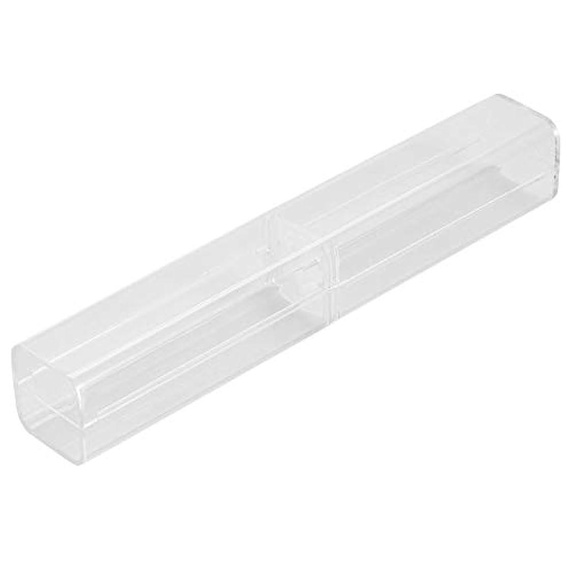 荒廃するを除くフィヨルド1ピース収納ボックス - 手動ペン眉毛タトゥークリアケース透明収納ボックス、収納ボックス - タトゥーコンテナ