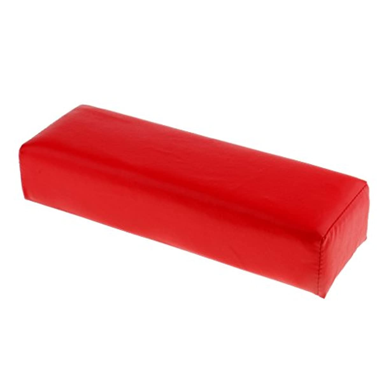 みすぼらしいオーバードロー有力者Homyl ネイルアート ハンドピロー ソフト クッション ピロー スポンジとPU  多色選べる - 赤