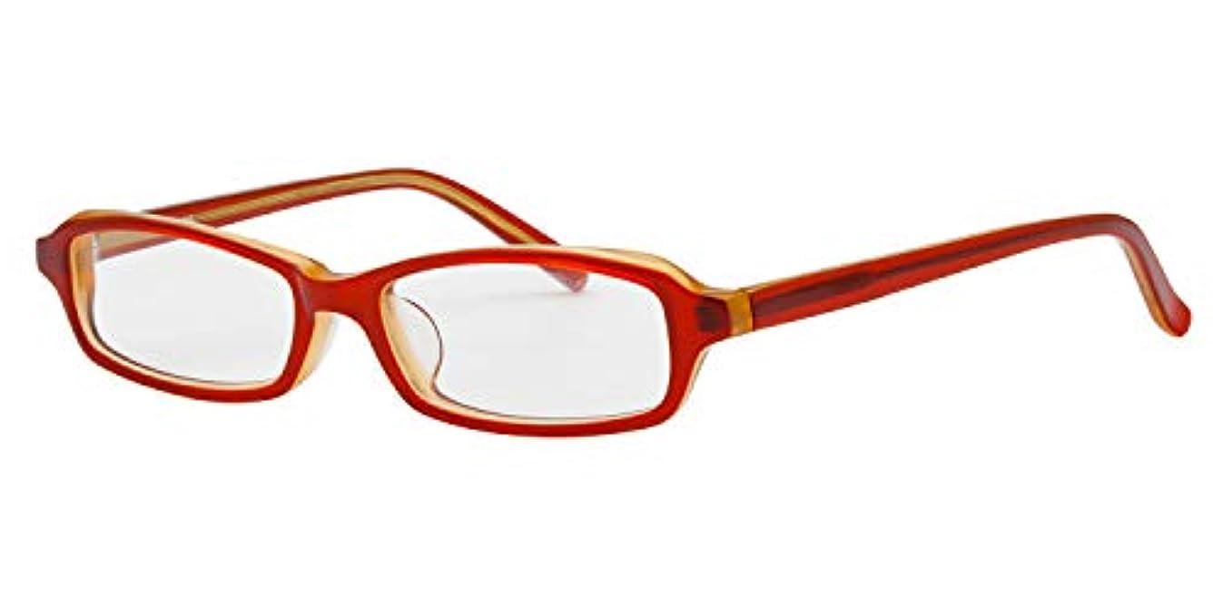テープ慣れている昼寝鯖江ワークス(SABAE WORKS) 老眼鏡 おしゃれ スクエア 女性用 レッド NT447 (度数 +0.75)