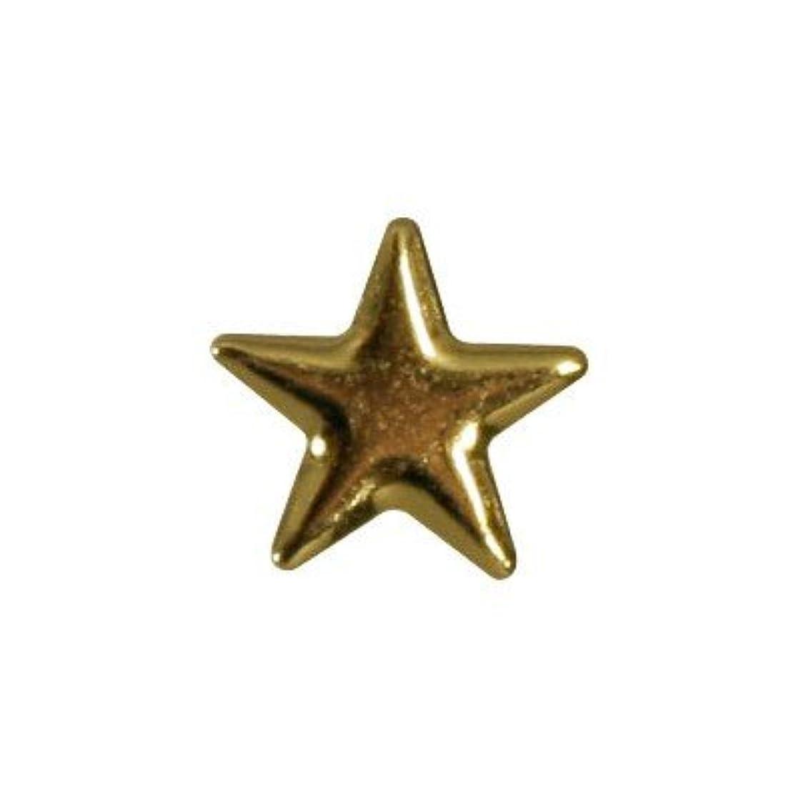 令状緩むピアドラ スタッズ メタルスター 5mm 30P ゴールド