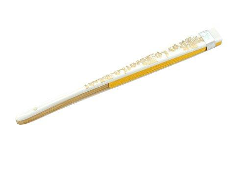 ノーブランド品 扇子 85女性用 礼装用 婚礼用末広金彩加工 白骨 金銀地紙 色留袖向き 和装小物1
