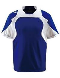デサント(DESCENTE) ベースボールシャツ (野球) DB115 Dロイヤルブルー×Sホワイト×ホワイト XA