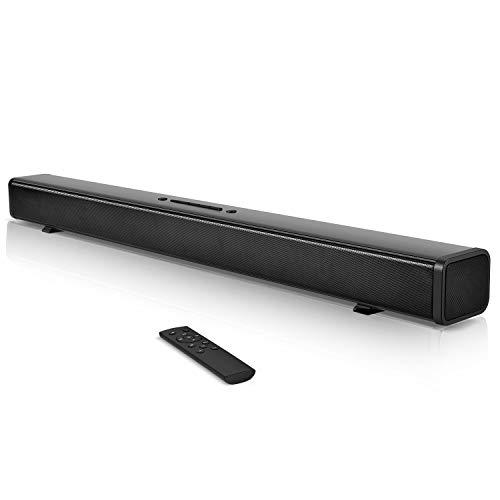 サウンドバー テレビ スピーカー 40W出力 Bluetooth ワイヤレス 高音質 重低音ホームシアター 臨場感 壁掛け サウンドシステム pc TV パソコン リモコン付き 大音量 サウンドシステム 黒ブラック