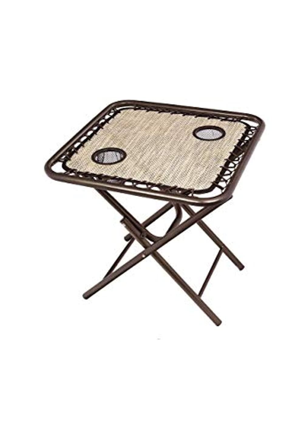 お祝い注目すべき労働Bliss Hammocks GFC-TBL-S Foldable Camping Side Table with Cupholders, Sand [並行輸入品]
