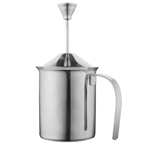 ミルク泡立て器 ステンレス鋼 ダブルメッシュ ミルクフォーマー DIYファンシー ホワイト コーヒークリーマー