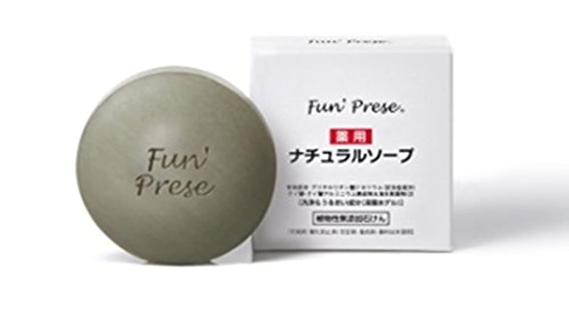 薬用 石鹸 ナチュラル ソープ 敏感肌用 化粧 石鹸 (ナチュラルソープ 80g, 1個)