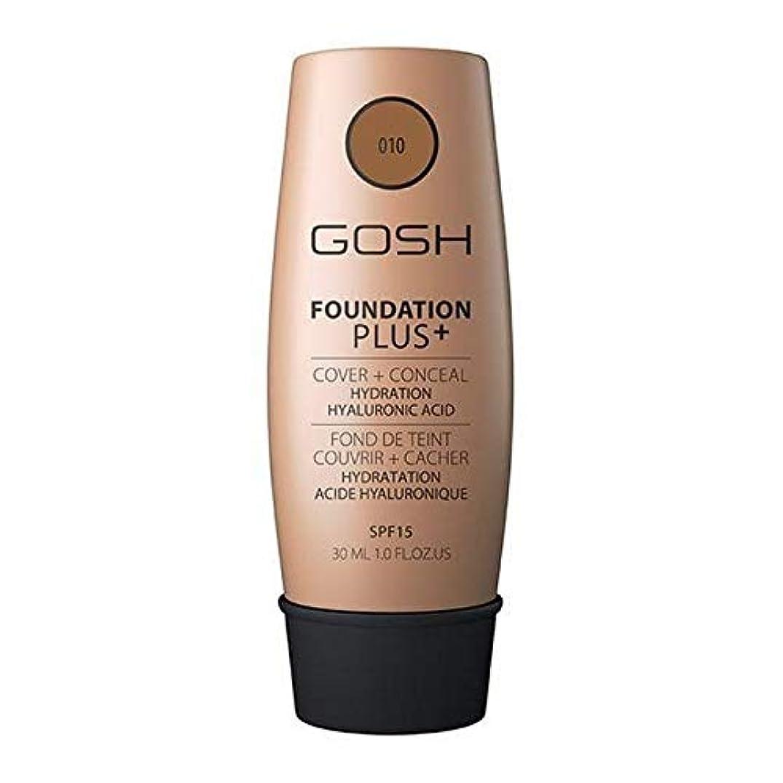 フラップシングル調停する[GOSH ] おやっ基盤プラス+日焼け010 - Gosh Foundation Plus+ Tan 010 [並行輸入品]