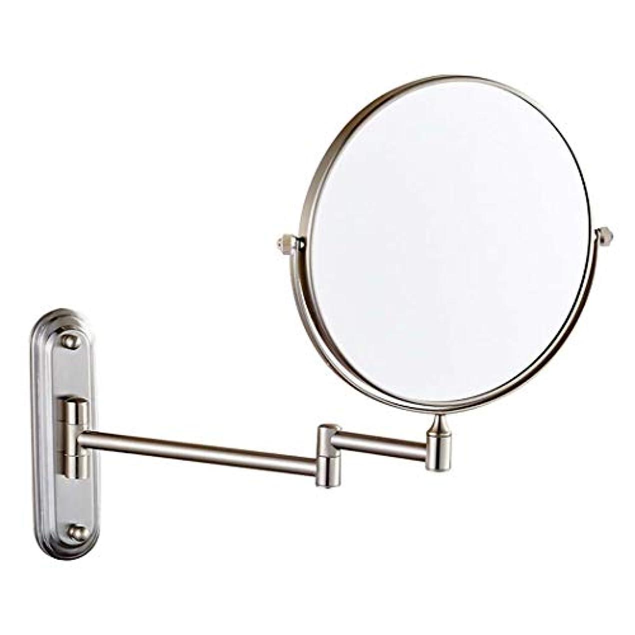 マッシュ数学的な通知する壁掛け浴室用ミラー両面化粧鏡3倍/ 5倍/ 7倍/ 10倍拡大虚栄心拡大鏡回転、お風呂、スパ、ホテル用拡張可能 (色 : ブロンズ, サイズ さいず : 8 inch-10x)