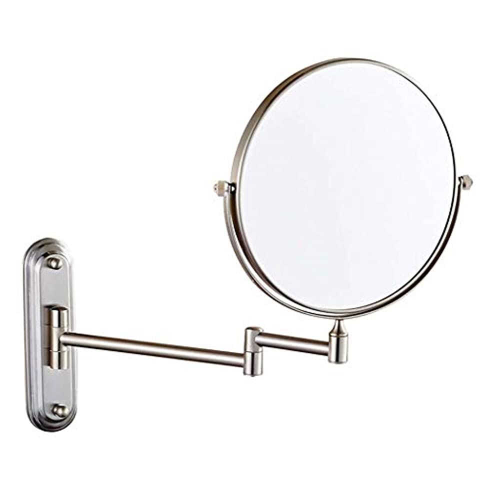 めったに温度計異常壁掛け浴室用ミラー両面化粧鏡3倍/ 5倍/ 7倍/ 10倍拡大虚栄心拡大鏡回転、お風呂、スパ、ホテル用拡張可能 (色 : ブロンズ, サイズ さいず : 8 inch-10x)