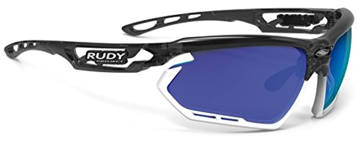 ラベルスポーツをする飛行場ルディプロジェクト(RUDYPROJECT) スポーツサングラス ロードバイク フォトニック クリスタルグラファイトフレーム マルチレーザーブルー SP453995-0001