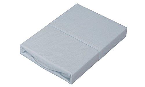 アイリスオーヤマ ボックスシーツ 綿100% シングル 100×200×25cm パステルブルー CMB-S
