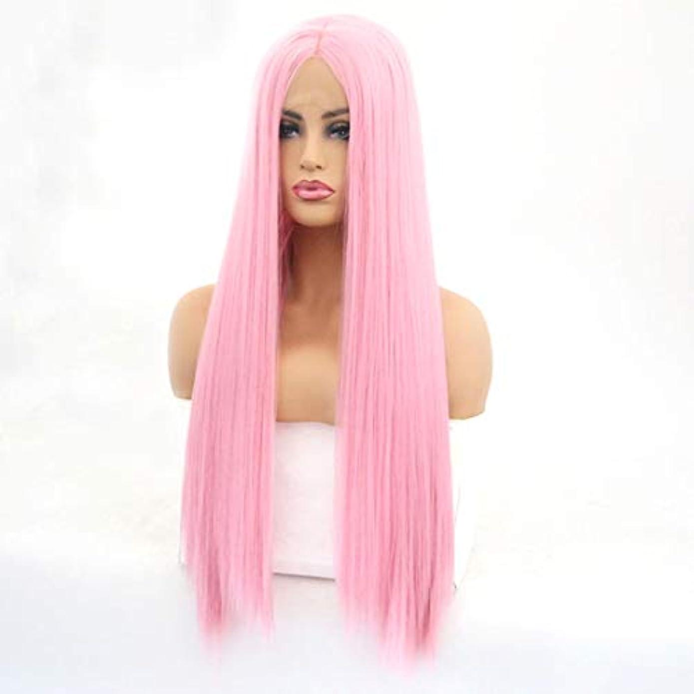 ライン追い払う父方のSummerys 女性のための長いストレートの波状のかつらかつらかつら合成繊維髪かつら自然に見えるかつら