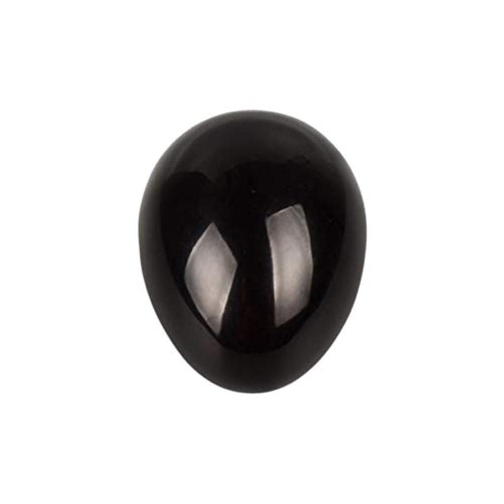 誰も調子作曲家ROSENICE 瞑想チャクラバランスのための黒曜石の卵の球