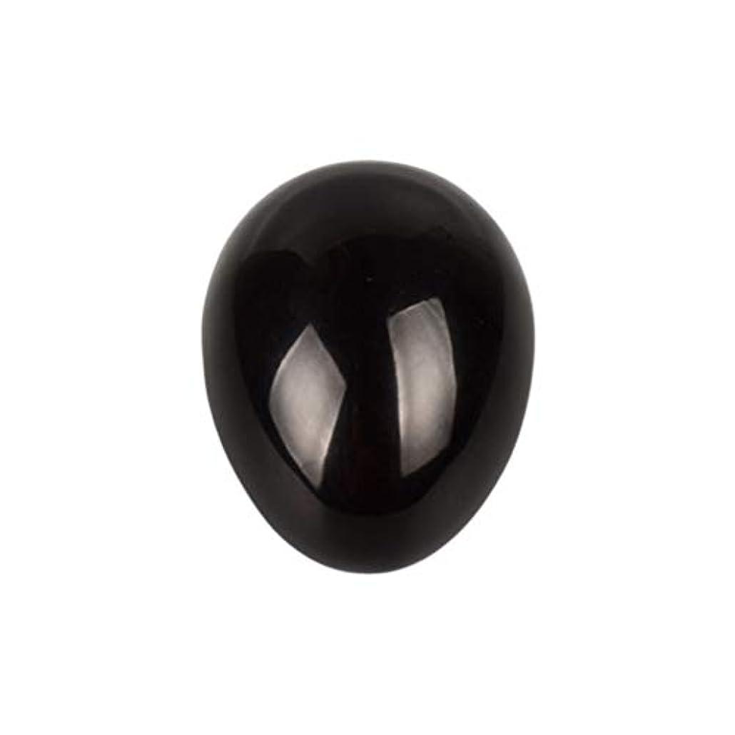 連邦仮装母性SUPVOX 45×30×30ミリメートルのバランスをとる瞑想チャクラを癒すための黒曜石宝石用原石の卵球