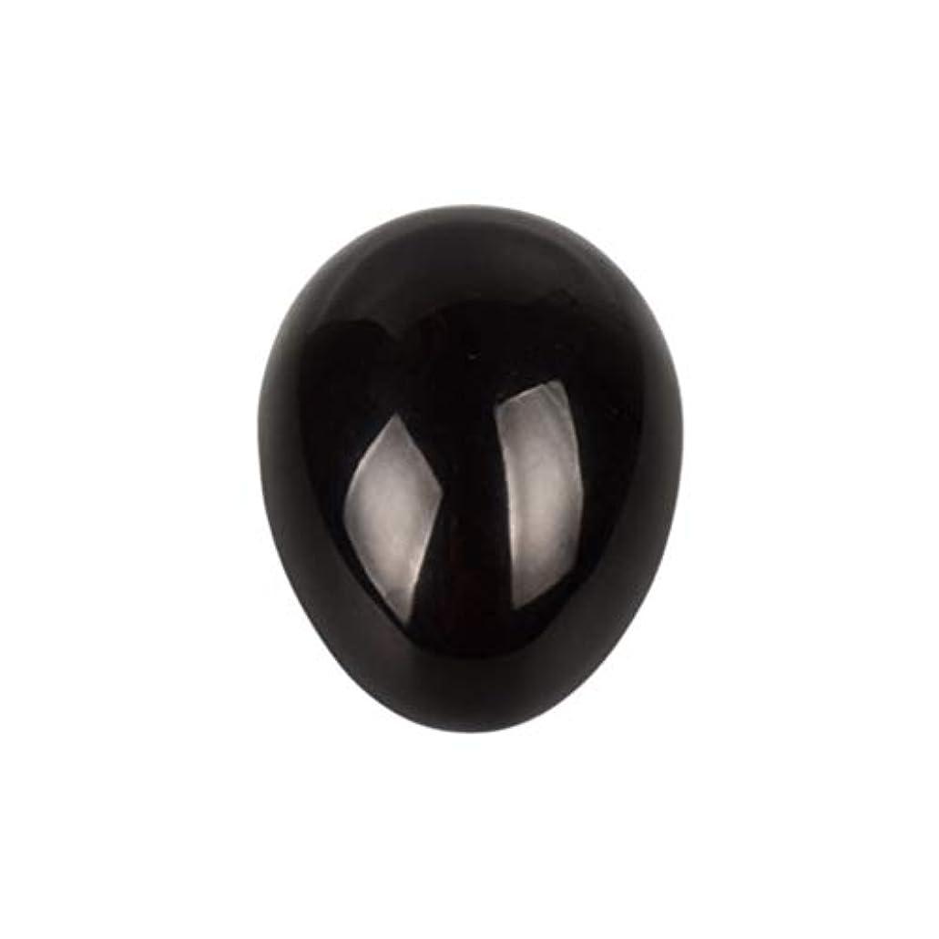 ゴミ箱愛撫影のあるROSENICE 瞑想チャクラバランスのための黒曜石の卵の球