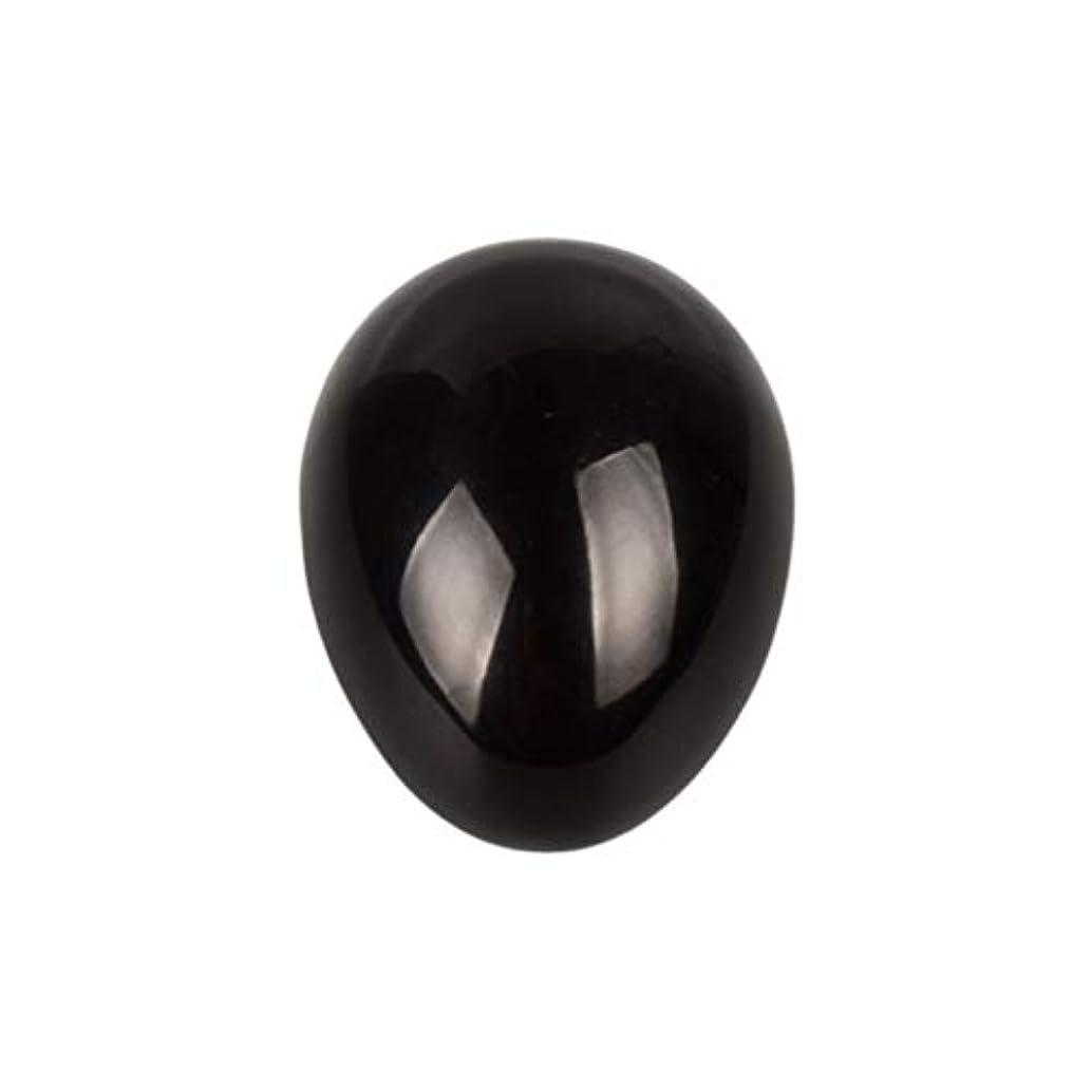 四半期プランテーションルーキーSUPVOX 45×30×30ミリメートルのバランスをとる瞑想チャクラを癒すための黒曜石宝石用原石の卵球