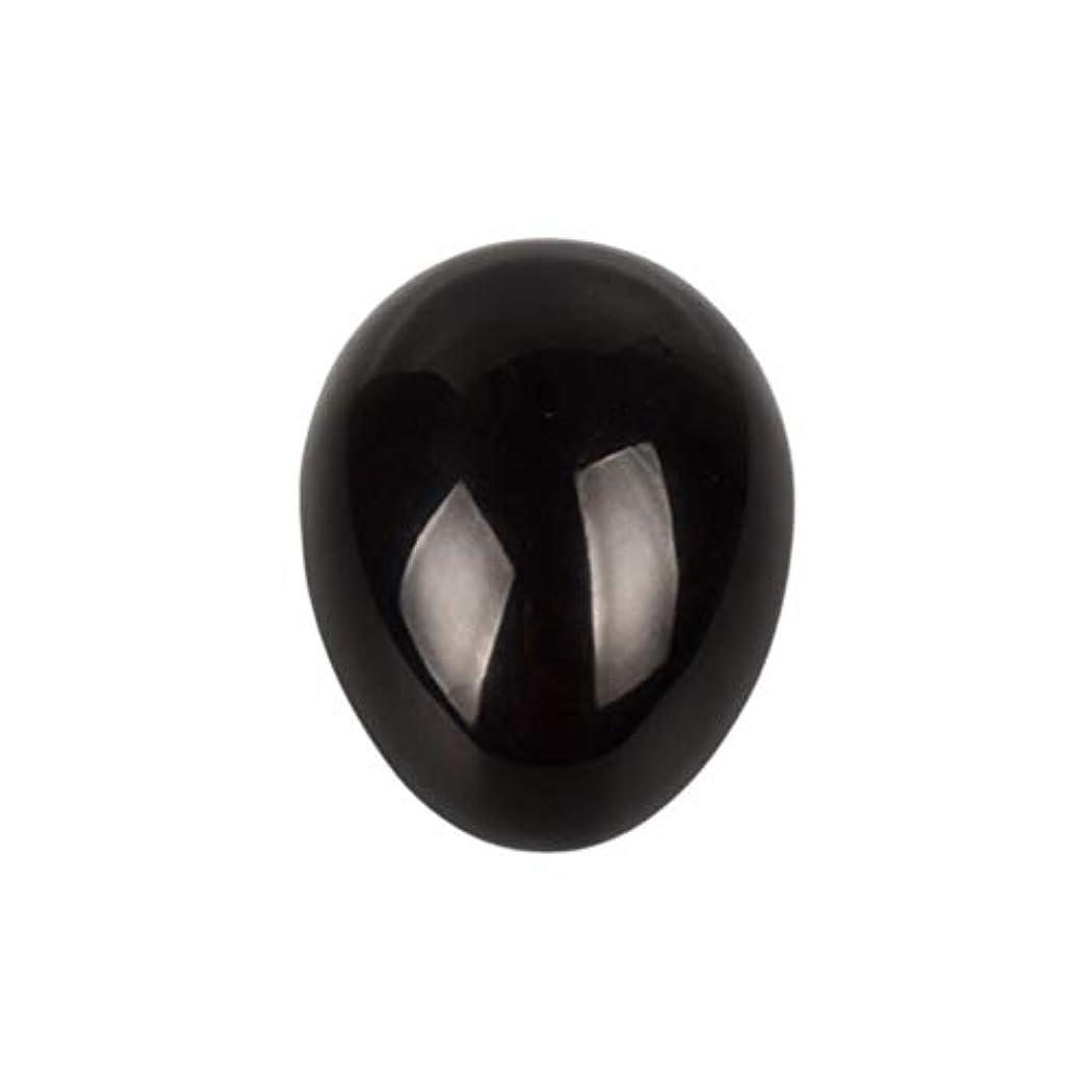 教義タイプ社説ROSENICE 瞑想チャクラバランスのための黒曜石の卵の球