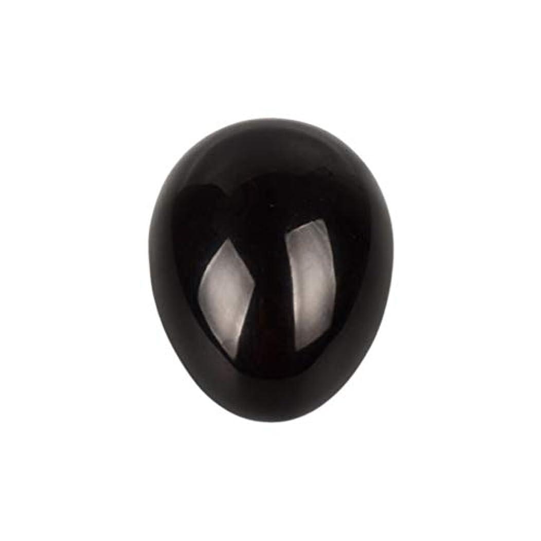 もっともらしい慎重マトリックスHealifty 癒しの瞑想のための黒い黒曜石の宝石の卵球チャクラのバランスと家の装飾45 * 30 * 30ミリメートル