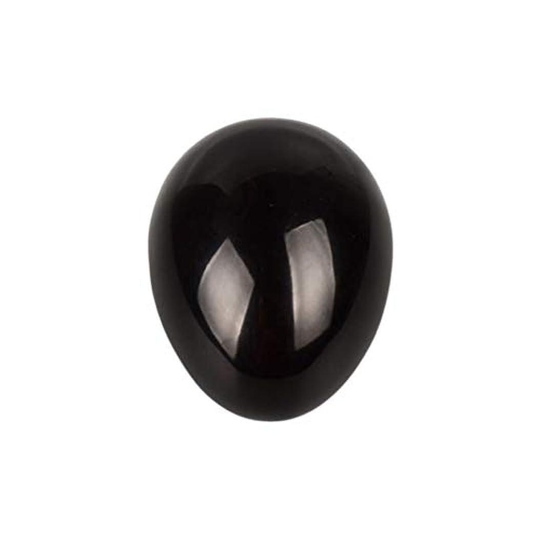 入手します契約した見つけるHealifty 癒しの瞑想のための黒い黒曜石の宝石の卵球チャクラのバランスと家の装飾45 * 30 * 30ミリメートル