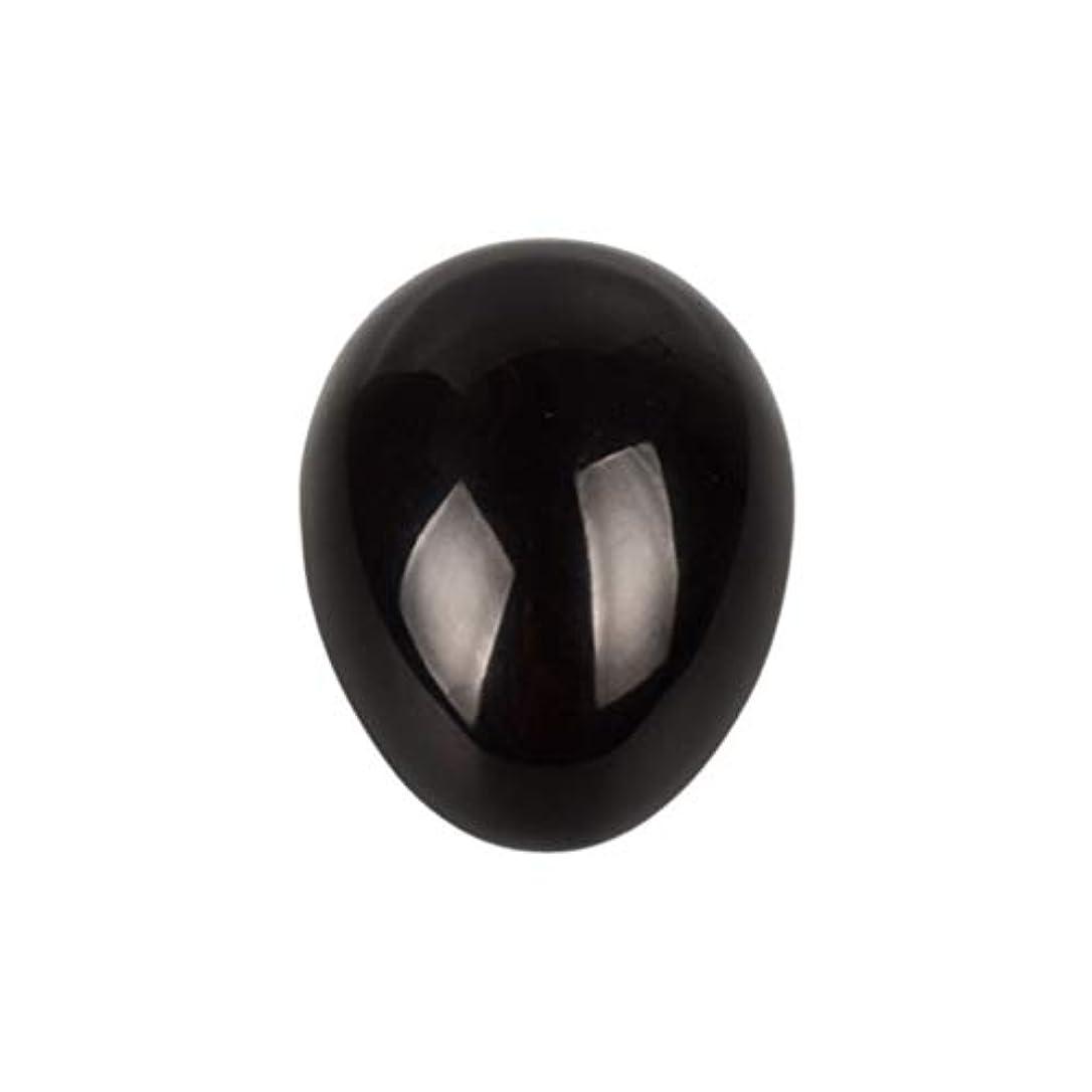 ご近所薬を飲む製品SUPVOX 45×30×30ミリメートルのバランスをとる瞑想チャクラを癒すための黒曜石宝石用原石の卵球