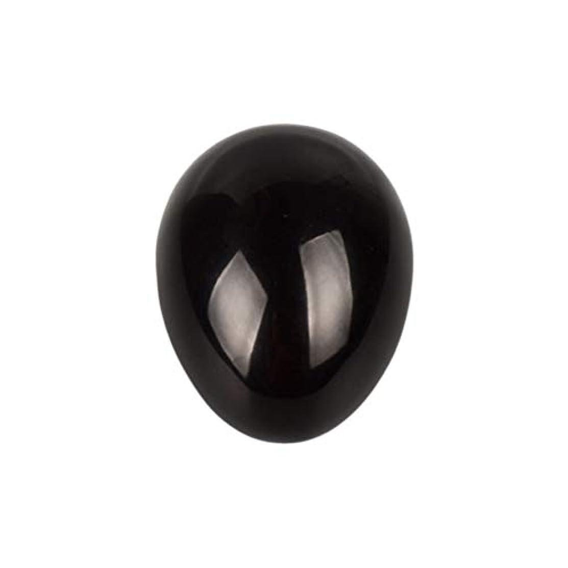 検査ハウス未就学Healifty 癒しの瞑想のための黒い黒曜石の宝石の卵球チャクラのバランスと家の装飾45 * 30 * 30ミリメートル