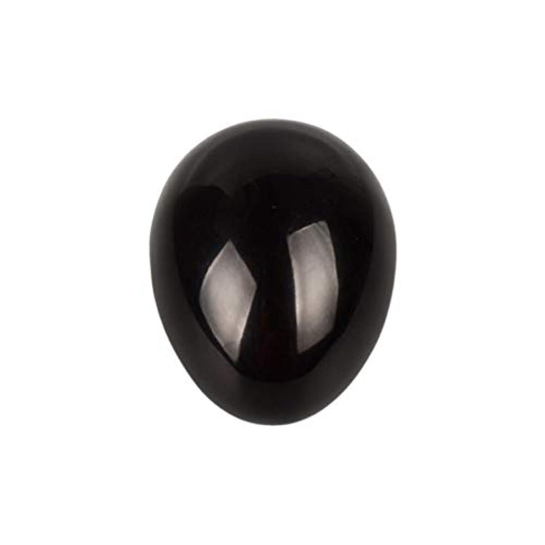 位置する騒ぎ女将Healifty 癒しの瞑想のための黒い黒曜石の宝石の卵球チャクラのバランスと家の装飾45 * 30 * 30ミリメートル