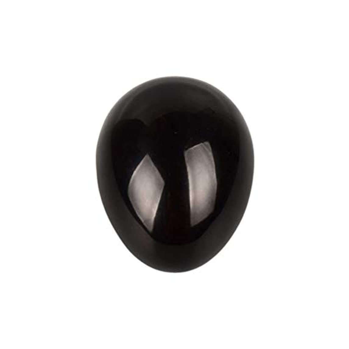 信念上に秘密のROSENICE 瞑想チャクラバランスのための黒曜石の卵の球
