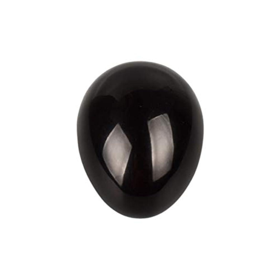 奴隷だます混乱SUPVOX 45×30×30ミリメートルのバランスをとる瞑想チャクラを癒すための黒曜石宝石用原石の卵球
