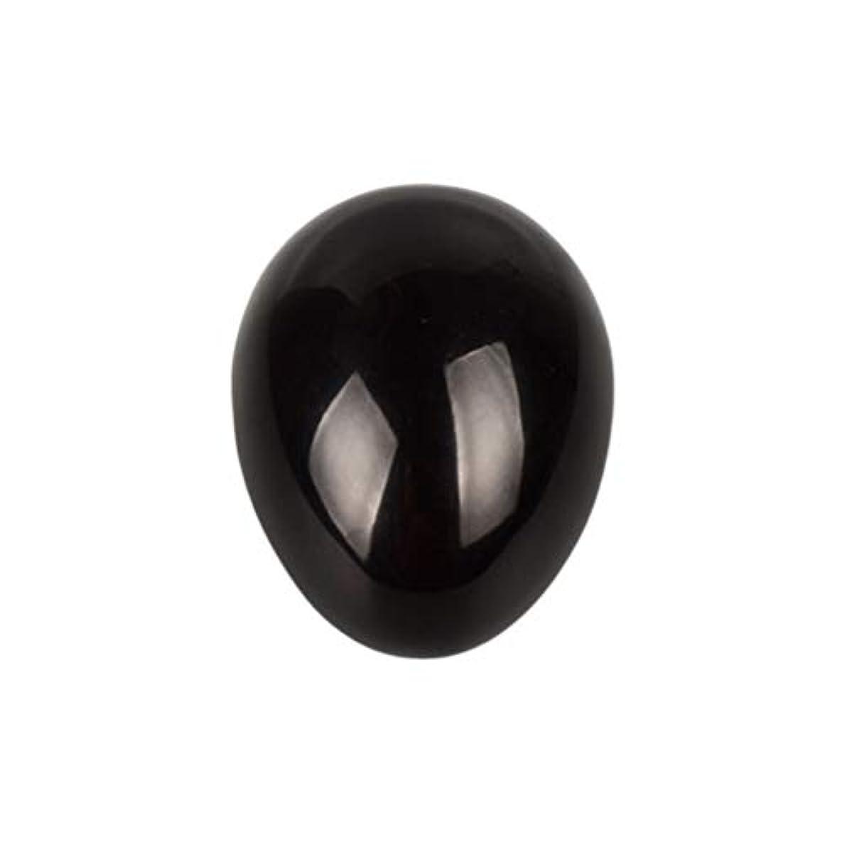 スワップ定期的な想定SUPVOX 45×30×30ミリメートルのバランスをとる瞑想チャクラを癒すための黒曜石宝石用原石の卵球