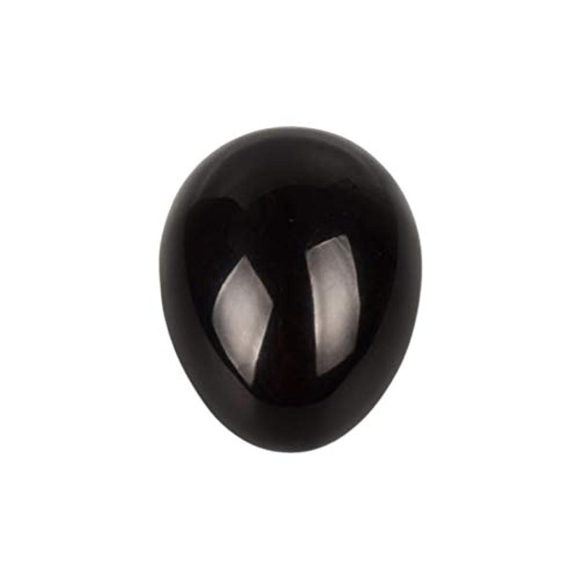 インタフェースありそう無限大SUPVOX 45×30×30ミリメートルのバランスをとる瞑想チャクラを癒すための黒曜石宝石用原石の卵球