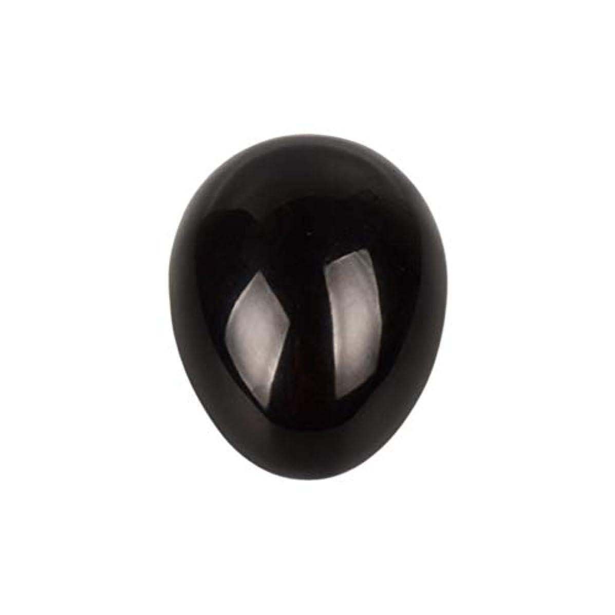 何もない人工スリラーROSENICE 瞑想チャクラバランスのための黒曜石の卵の球