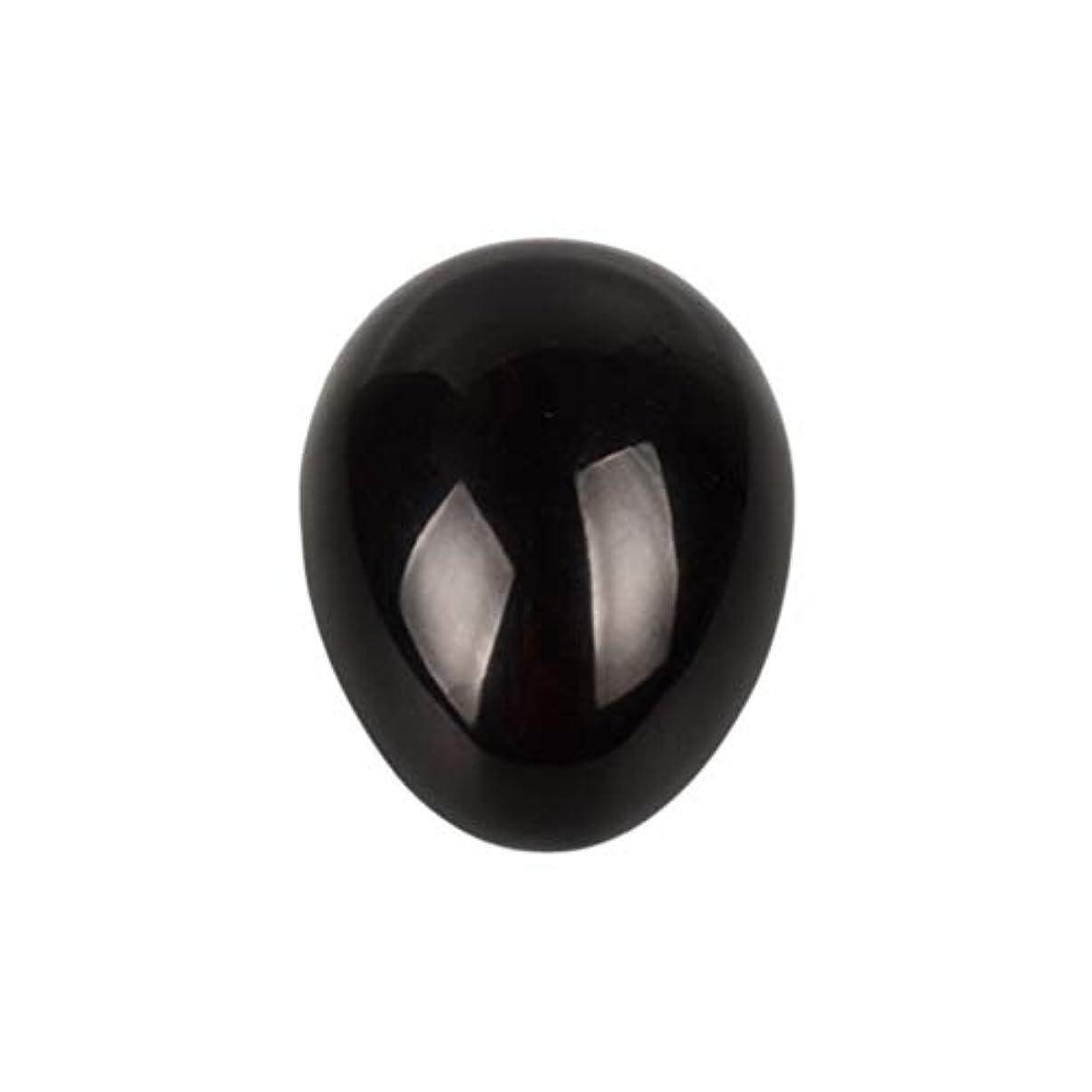 推進力ヒント聴くSUPVOX 45×30×30ミリメートルのバランスをとる瞑想チャクラを癒すための黒曜石宝石用原石の卵球