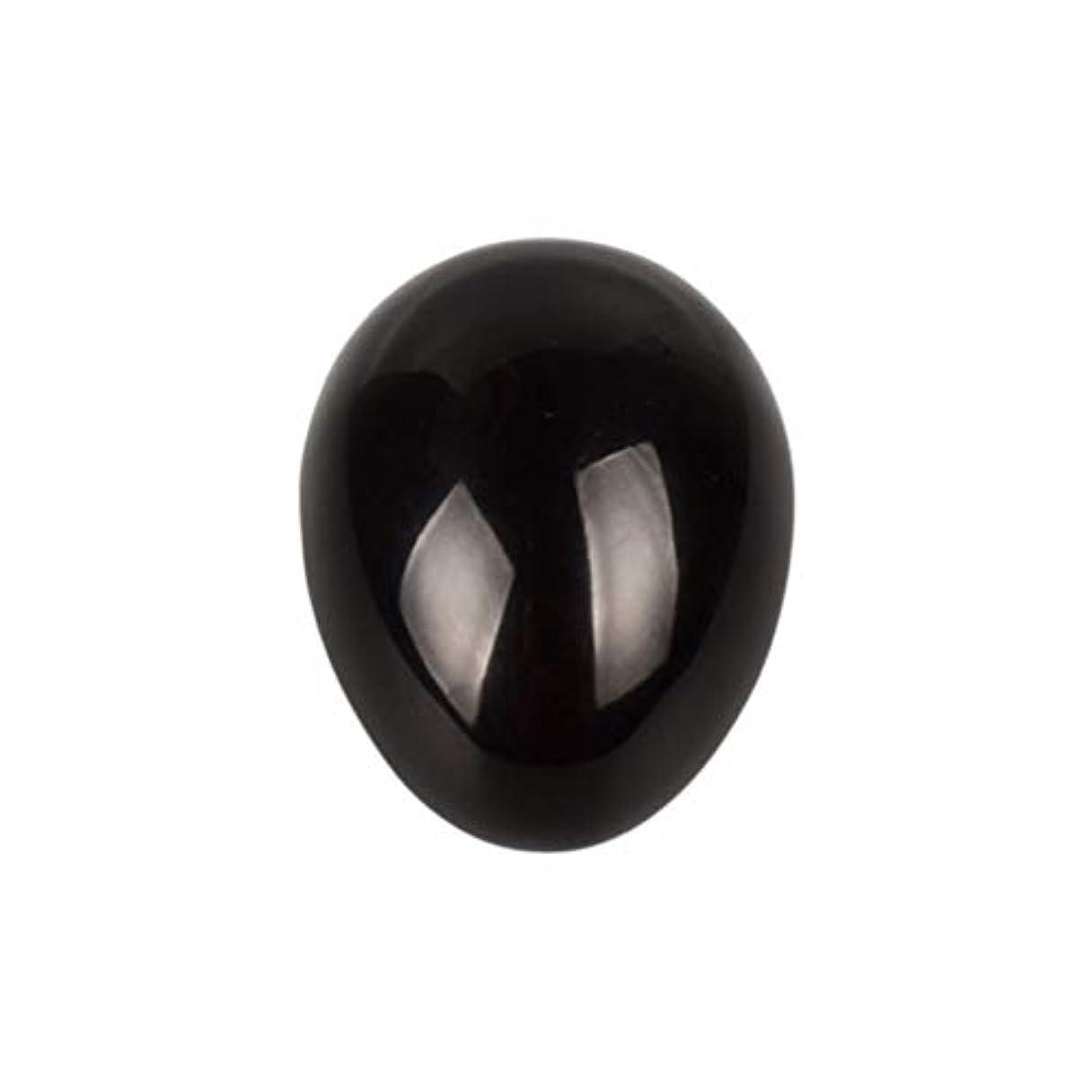 商標薄い知り合いになるSUPVOX 45×30×30ミリメートルのバランスをとる瞑想チャクラを癒すための黒曜石宝石用原石の卵球