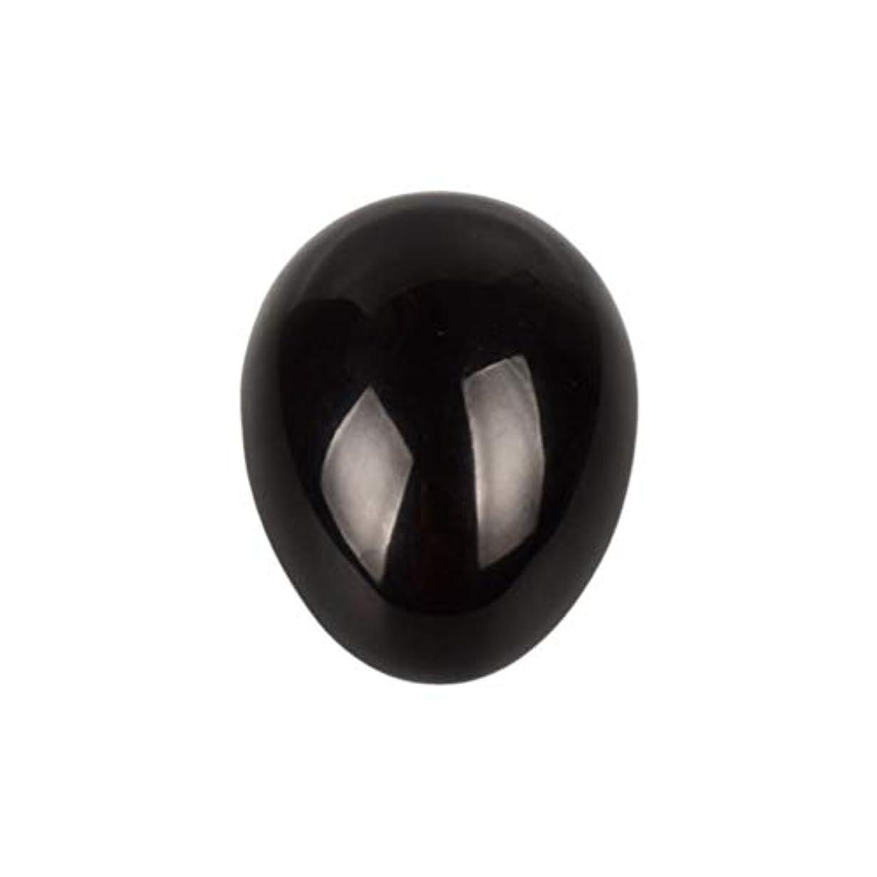 調停者まともなフォークSUPVOX 45×30×30ミリメートルのバランスをとる瞑想チャクラを癒すための黒曜石宝石用原石の卵球