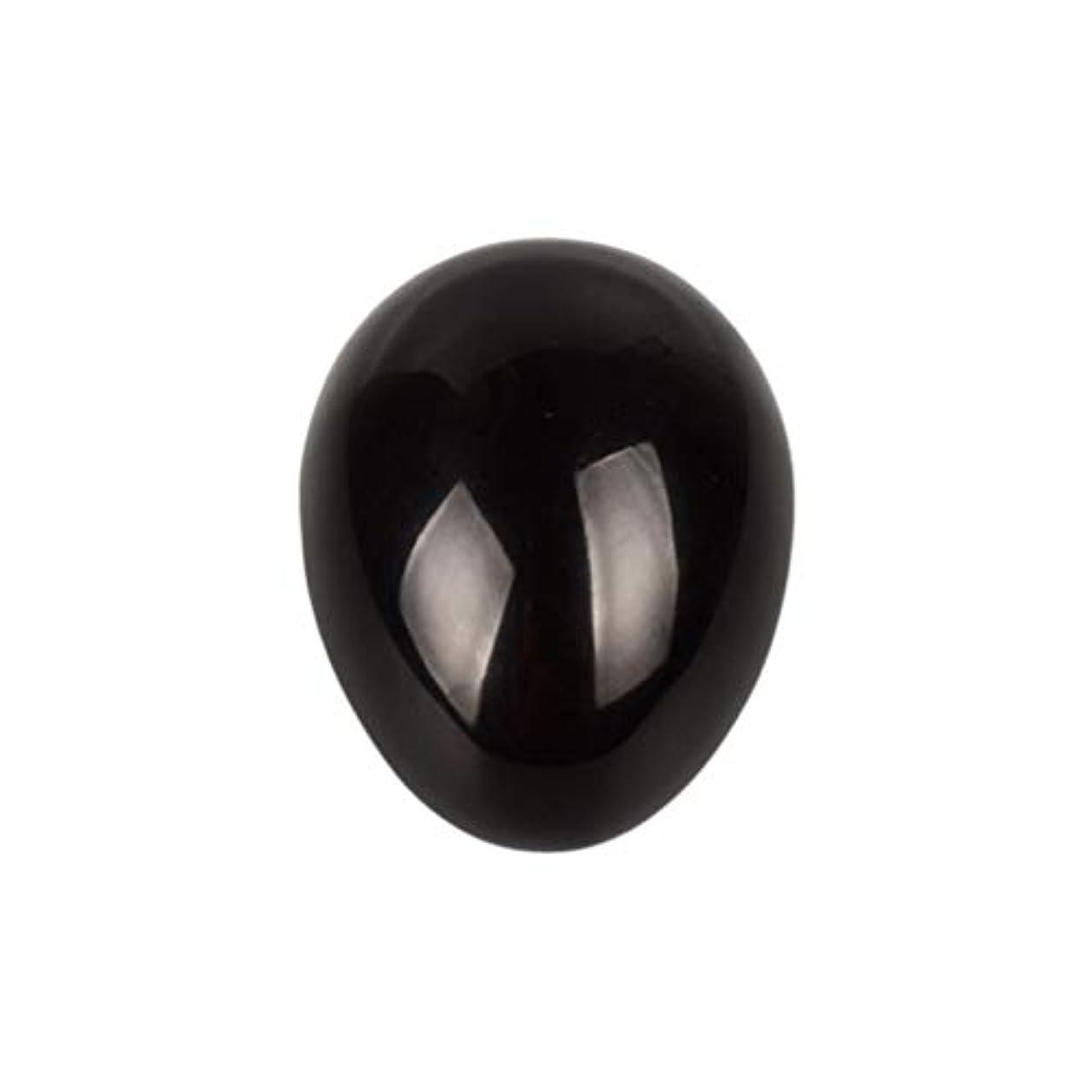 剃るキャンベラ多様体SUPVOX 45×30×30ミリメートルのバランスをとる瞑想チャクラを癒すための黒曜石宝石用原石の卵球