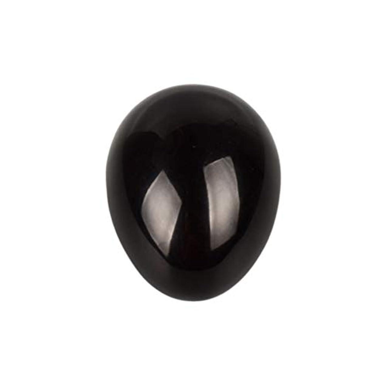 誇り事前遠洋のSUPVOX 45×30×30ミリメートルのバランスをとる瞑想チャクラを癒すための黒曜石宝石用原石の卵球