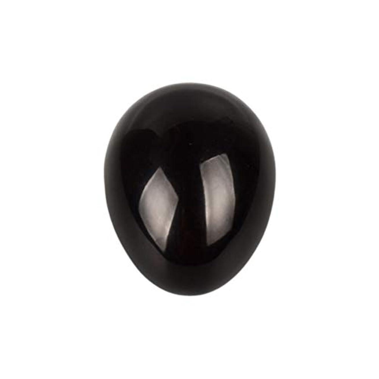 可能にするインシュレータブラウザSUPVOX 45×30×30ミリメートルのバランスをとる瞑想チャクラを癒すための黒曜石宝石用原石の卵球