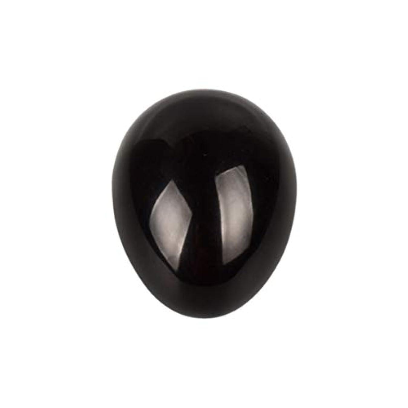 故障中サーフィンスモッグHealifty 癒しの瞑想のための黒い黒曜石の宝石の卵球チャクラのバランスと家の装飾45 * 30 * 30ミリメートル