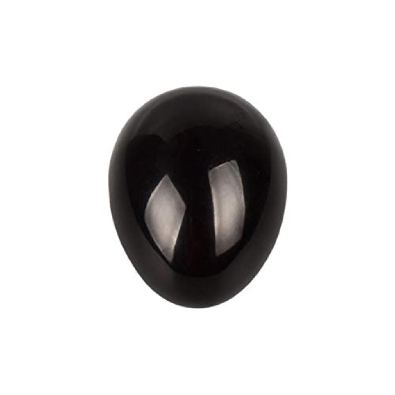 記念日閃光プレミアムHealifty 癒しの瞑想のための黒い黒曜石の宝石の卵球チャクラのバランスと家の装飾45 * 30 * 30ミリメートル
